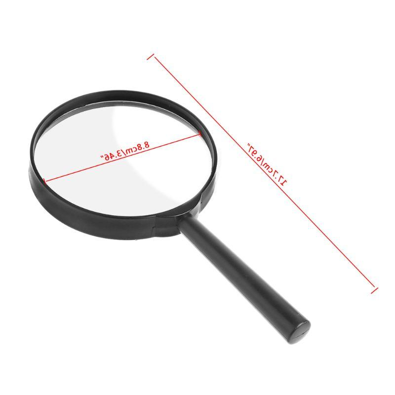 90mm Handheld Reading Newspaper Glass Loupe