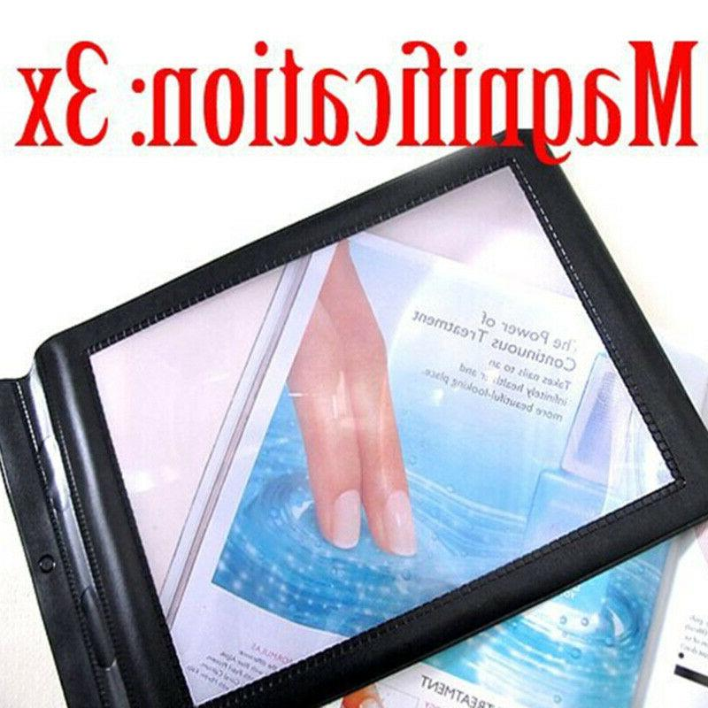 Full Magnifier A4 Big Magnifying Glass Reading Book Lens