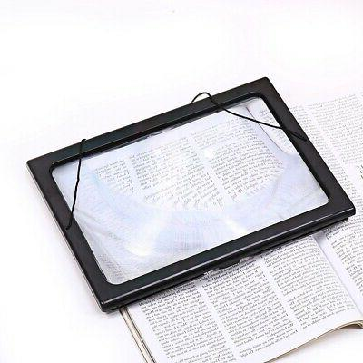 Large A4 Page Reading Magnifying LED US