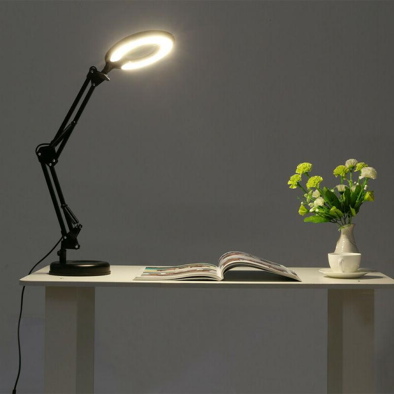 5X Desk Clamp Lamp Magnifying Glass Diopter