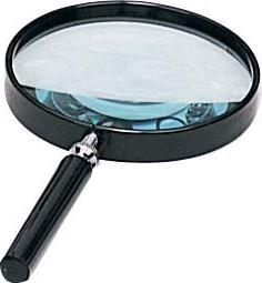 Classic Large4'' Magnifying Glass-3x Magnification-black Fra