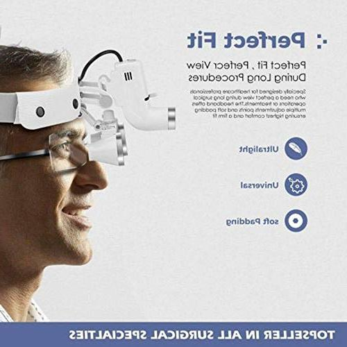 CARESHINE Loupes Glasses Headband LED Light