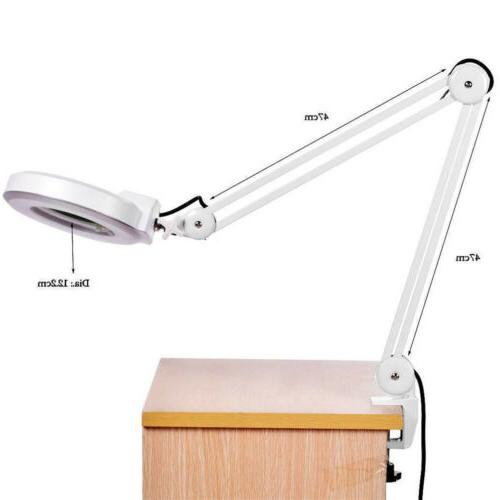 Desk Magnifying Lamp Clamp Loupe Lab Salon