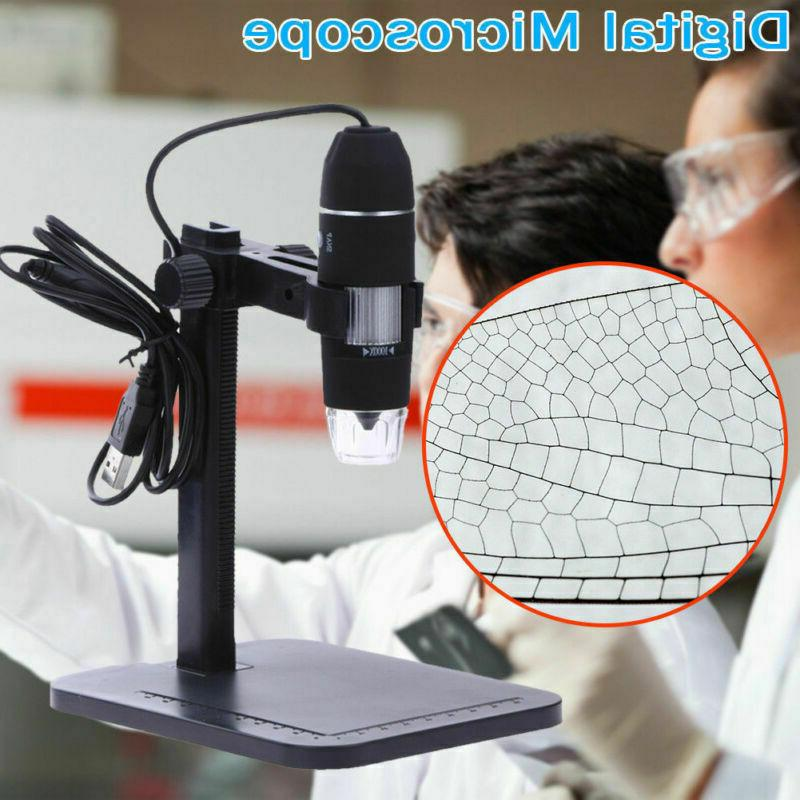 digital usb microscope endoscope 1000x 2mp 8led