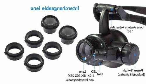 Repair Magnifier With Light 8 Lens US