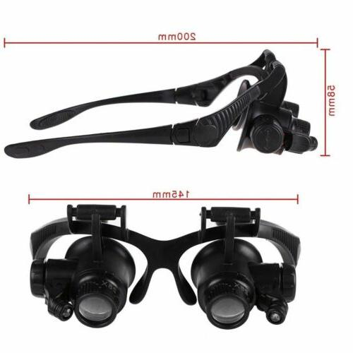 Double Repair Magnifier Loupe Glasses With Lens US