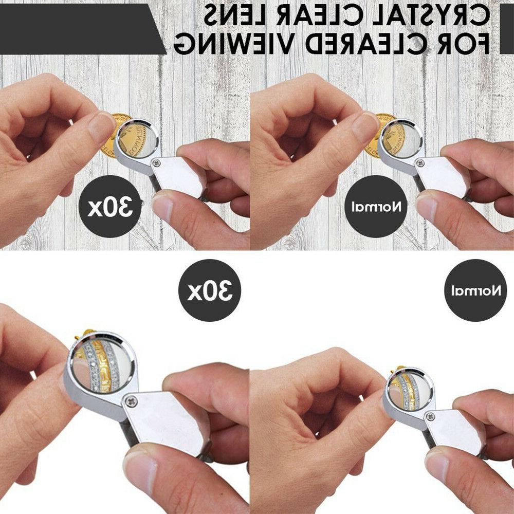 30 21mm Eye Loupe Magnifier Glass Coin From USA