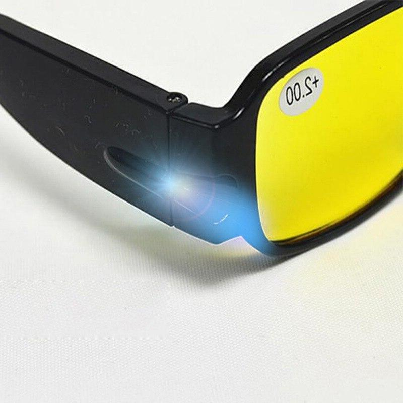 Fatigue Prevention with LED glasses Men Women Diopter <font><b>Magnifier</b></font> light
