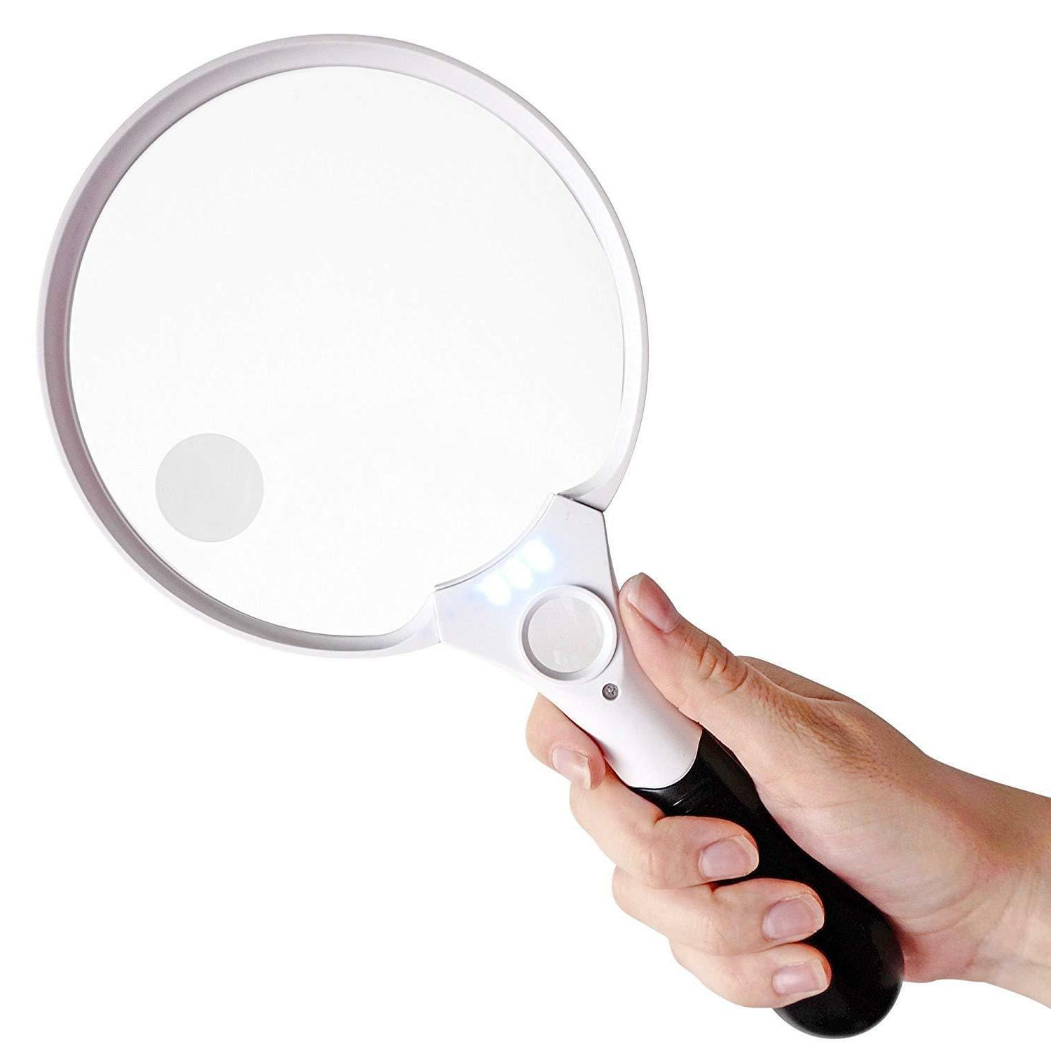 handheld magnifying glass
