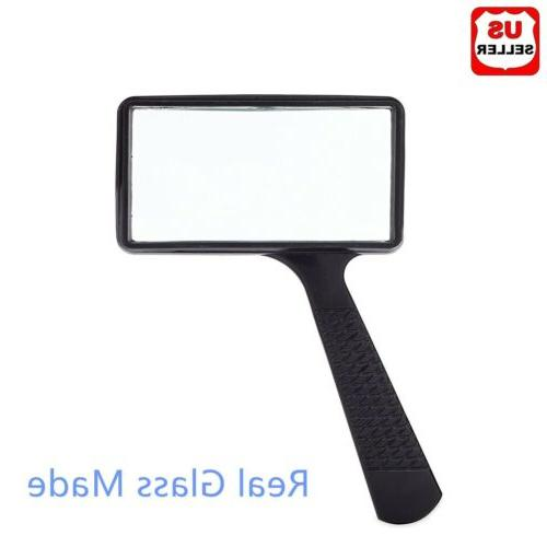 handheld rectangular 3x magnifier magnifying glass loupe