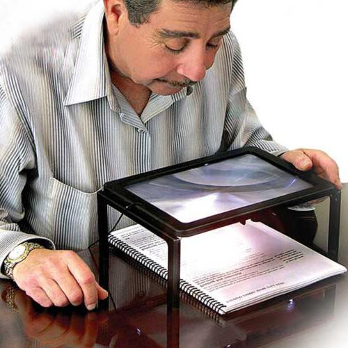 Hands Free LED Light Magnifier For Reading Magnifying Glass