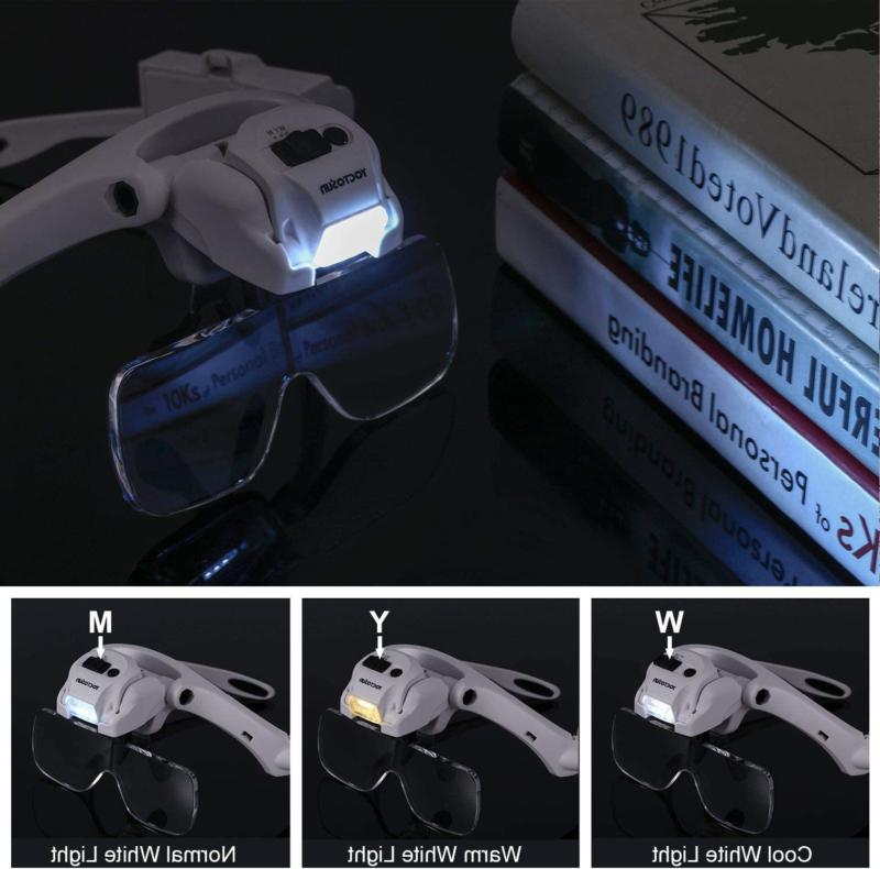 Yoctosun Head 5 Led Free Magnifying Glass