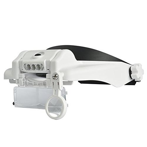 Beileshi Headband LED Light 1.5x 2x 8x Stacking, Can When Use, Repair, Jewelry Appraisal, and Repair,