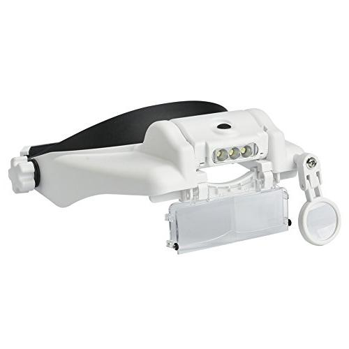 headband magnifier 3 light helmet