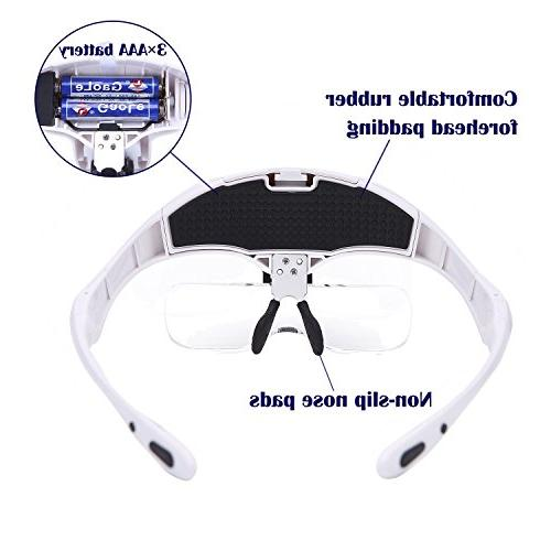 Headband Magnifier Magnifying Headband 5 Replaceable
