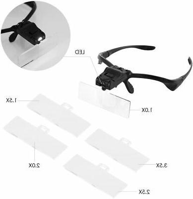 Headband Magnifier Magnifying Work, SOONHUA with 2