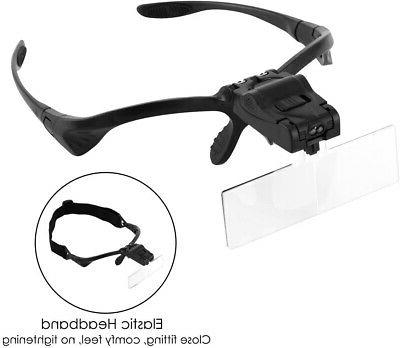 Headband Magnifying with Light for Work, 2