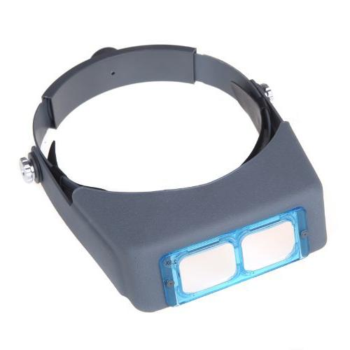 "SKYZONAL Magnifier Jewelry Visor Opitcal Magnifier With Lens 2X 2.5X 3.5x 4"" Focal"