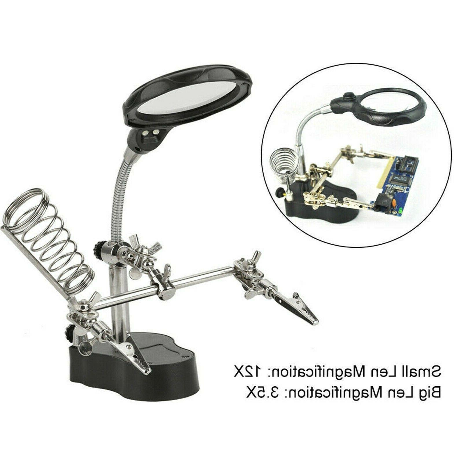 Helping Hand Magnifying Soldering Stand Magnifier Tools