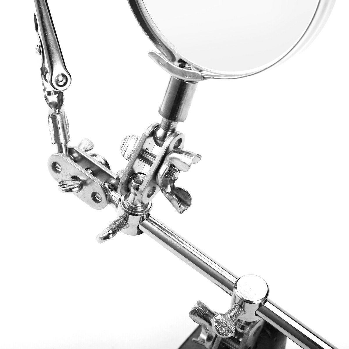 Helping Hand Magnifier Magnifying Glass Holder Soldering Stand