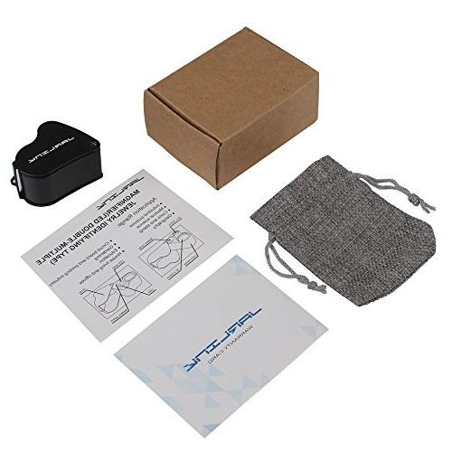 JARLINK 60X Jewelers Foldable Jewelry Magnifier Bright for Gems, Jewelry, Coins, etc
