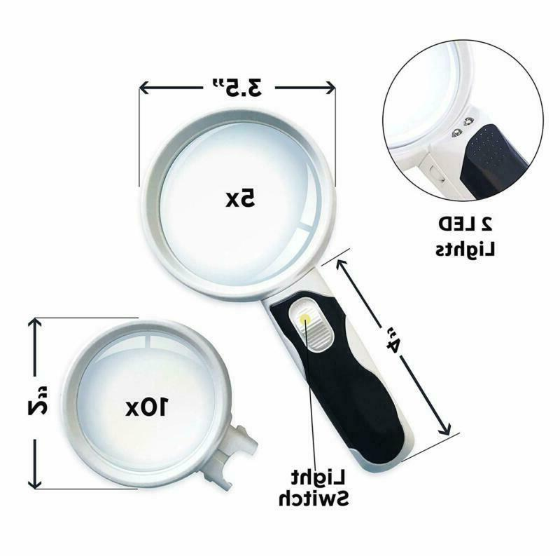 iMagniphy Glass Set. Magnifier with Lights for S