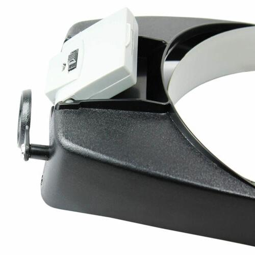 Jewelers Head Headband Magnifier LED Illuminated Magnifying Glasses Loupe