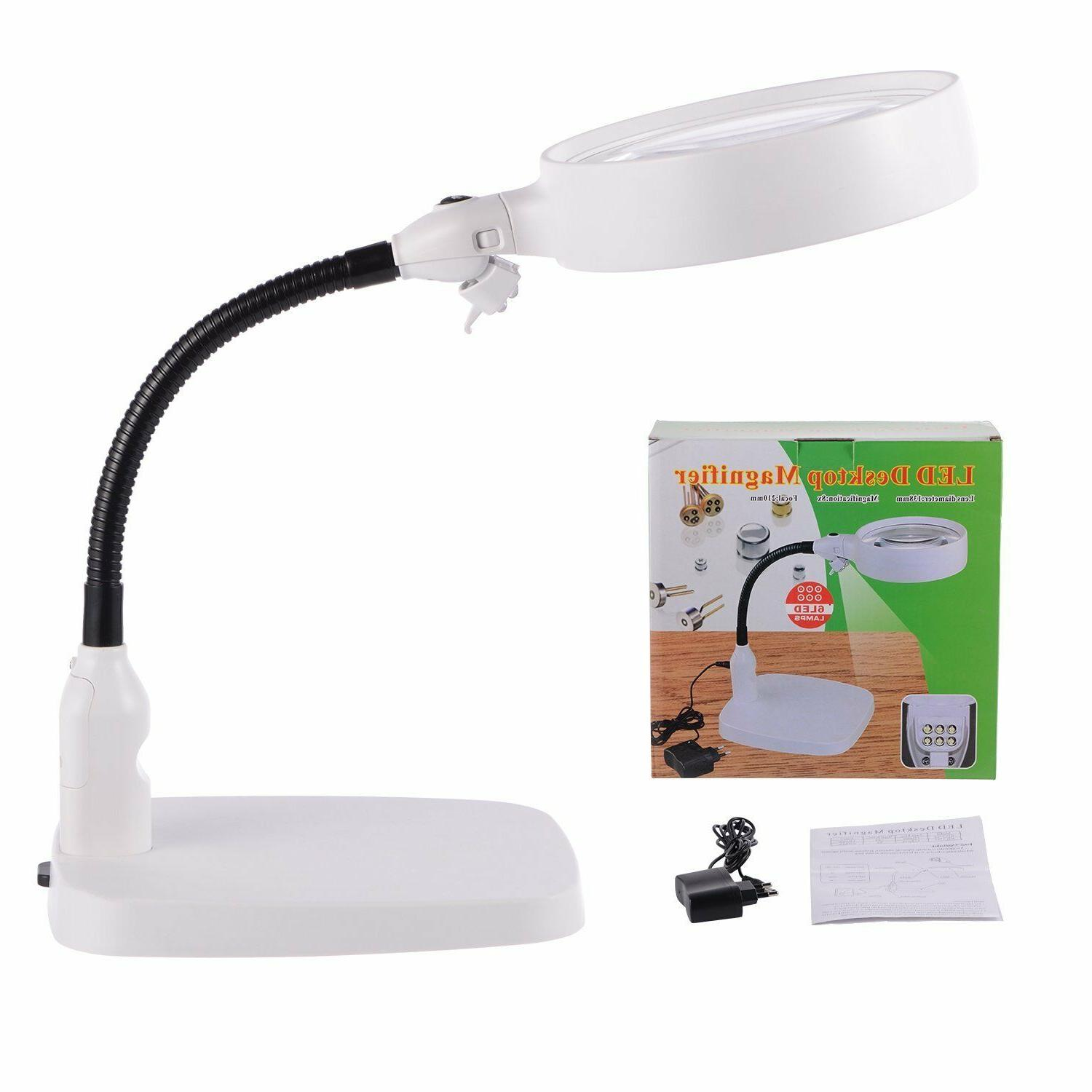 large led lighted magnifier with stand folding