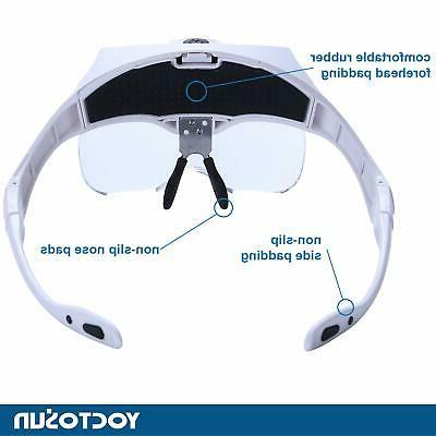 YOCTOSUN LED Head Rechargeable Magnifying Glass