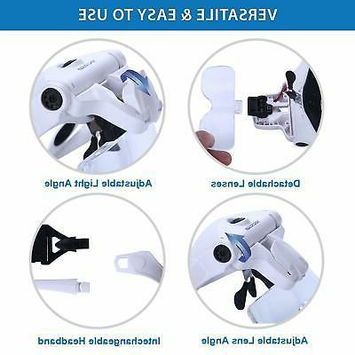 YOCTOSUN LED Magnifier, Rechargeable Hands Free Magnifying