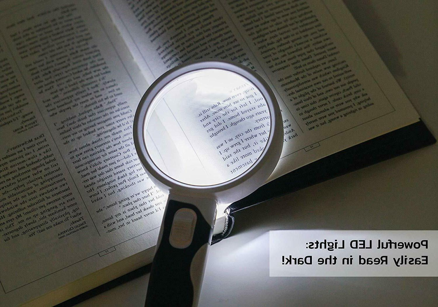 Glass Set Magnifier with LED 2 + 5X