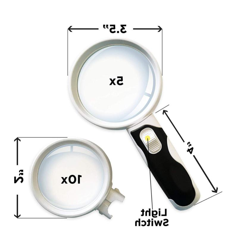iMagniphy LED Magnifying Glass Set. Best With