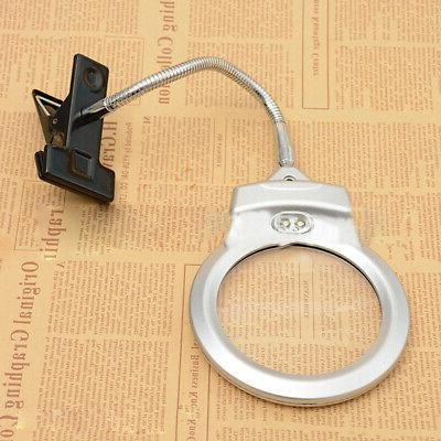 2020 Lens Lighted Lamp Magnifier Magnifying Clamp LED NTH