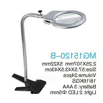 New LED Lighted Lamp Magnifier with Clamp
