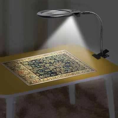 Lighted Lamp Magnifier Clamp