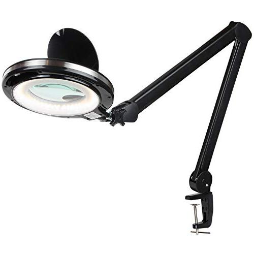 Brightech PRO LED 2.25x Magnifying Desk Work Bright, Magnifier for & Tasks Light Color Adjustable & Dimmable