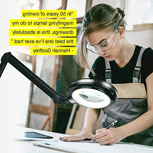 Brightech LightView - LED Desk for Close Work Magnifier Reading, Crafts & Light Color & Dimmable