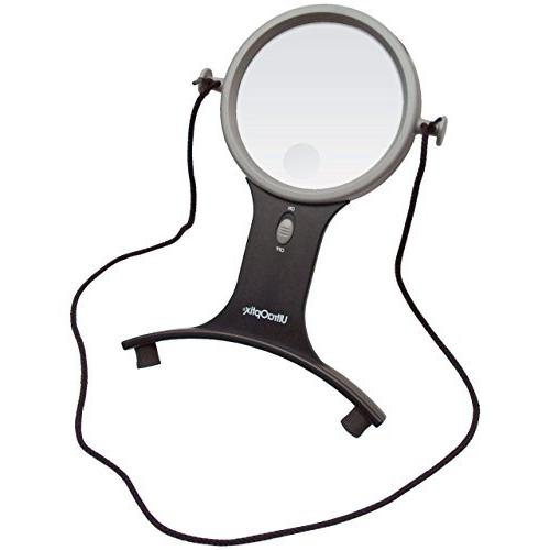 lighted hands magnifier 2 5x