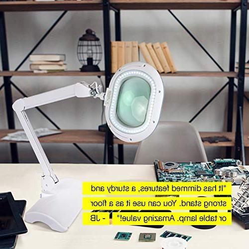 Brightech Lightview Pro LED Lighted XL Magnifying Glass - Magnifier Floor Standing Light 2.25x Bright Task Lighting