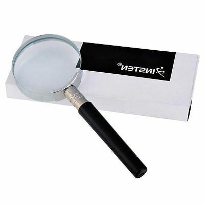 10X Magnification Handheld Magnifying Glass Handle Vision