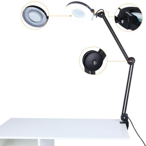 magnifier 5x diopter desk table clamp mount