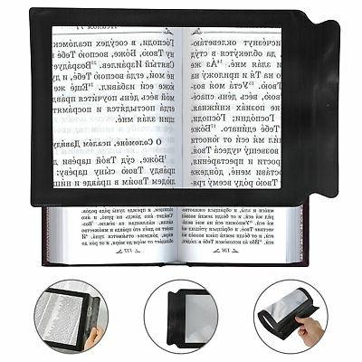 magnifier book reading aid lens large 3x