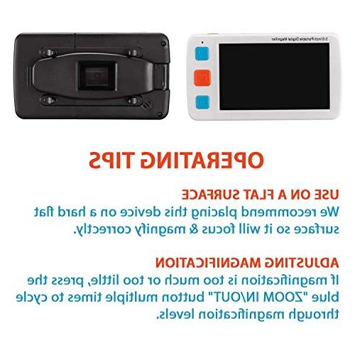 Inventiv Video LCD Portable Digital Zoom, Aid For Impaired, 17 Color AV/TV Output