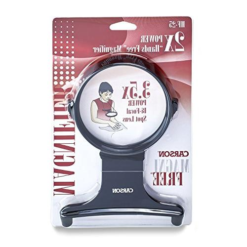 Carson MagniFree 2x Magnifier with Spot