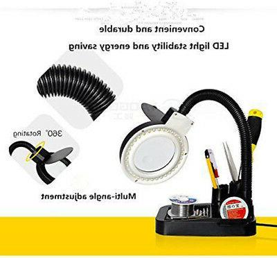 Magnifying Glass Lamp 5X Magnifier Loupe LED Lights