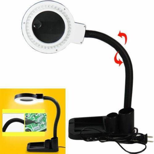 Magnifying Crafts Desk Lamp With Magnifier Loupe 40 LED