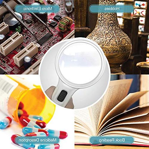 Magnifying Glass Ultra LED MagniPros High for Jewlery, Craft Hobbies