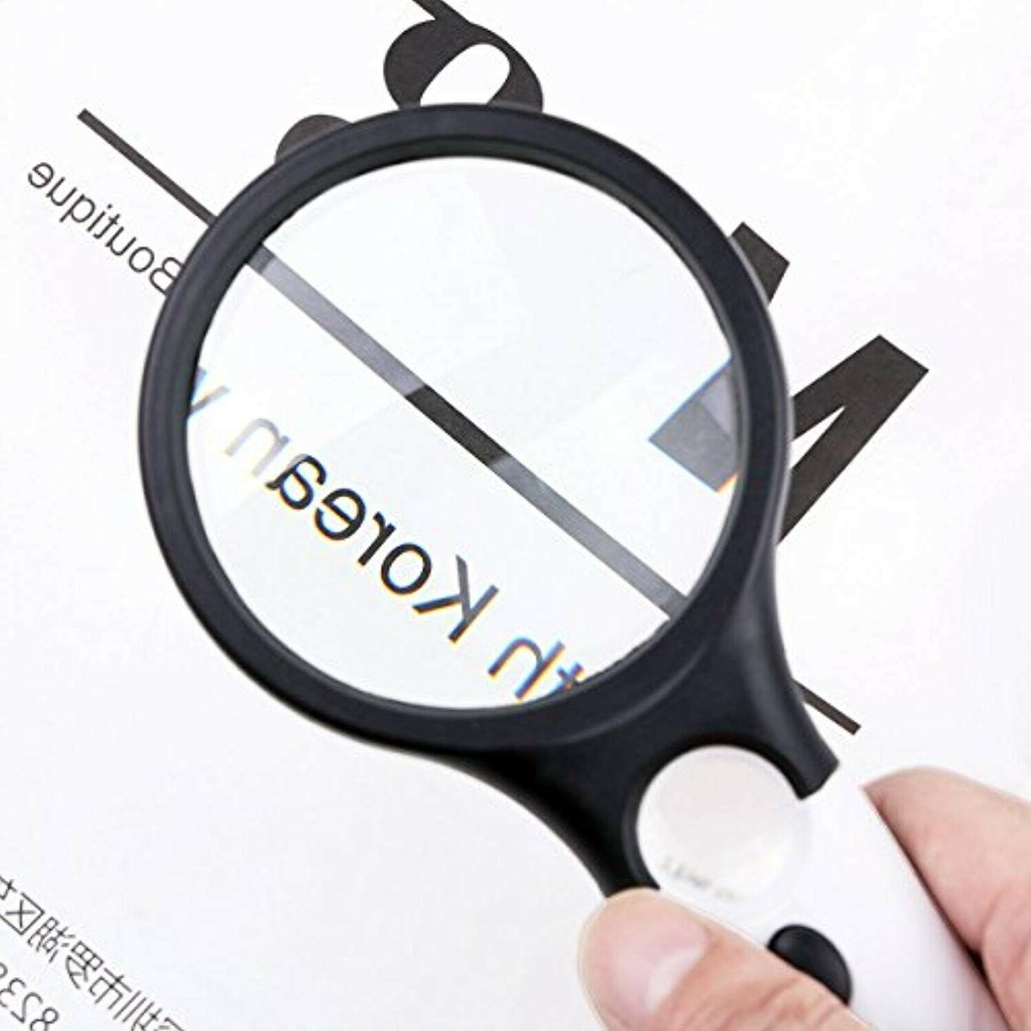 Magnifying Handheld Reading Magnifier LED Visual Impairment