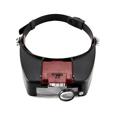 Magnifying LED Light Head Headband Magnifier With Box US