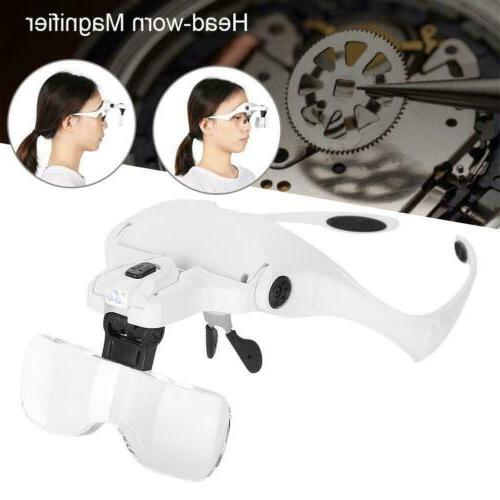 Magnifying Lens Light Loupe Jeweler Headband